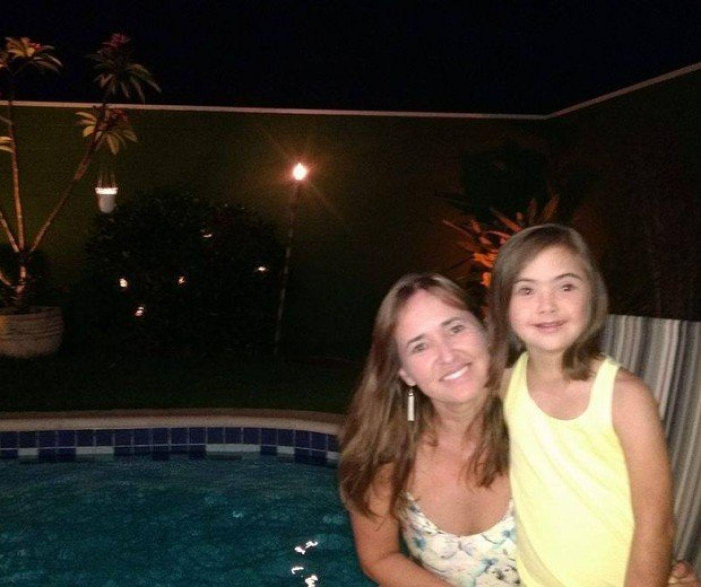 Claudete e sua filha, Gabriela, 10 (Foto: Arquivo pessoal)
